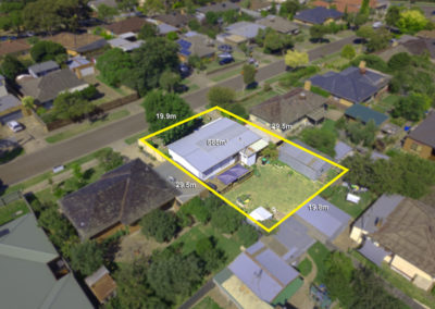 Aerial Drone photo real estate elevation