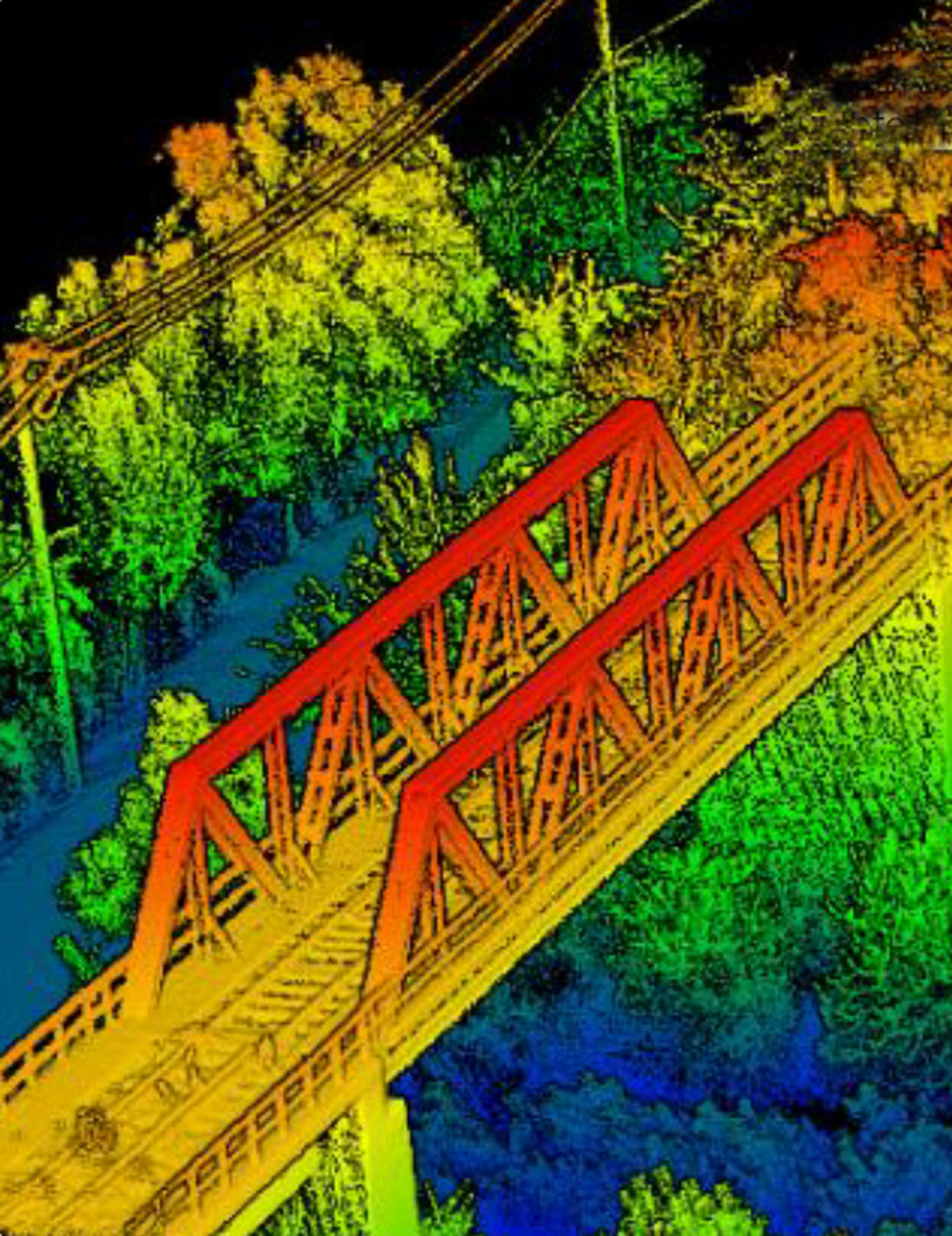 Lidar Image of a Bridge